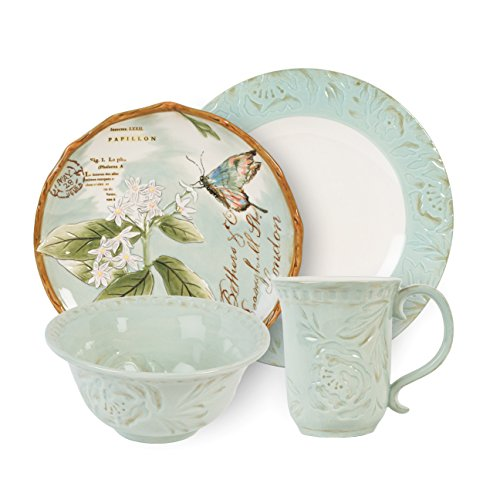 Toulouse Collection, 4-Piece Place Setting, Green