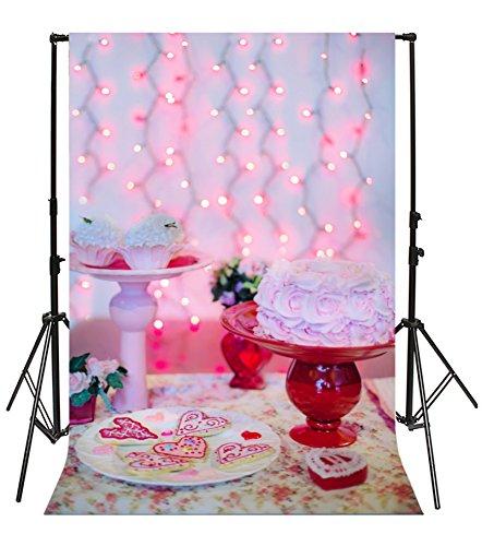 Bridal Bouquet Cup - Leyiyi 6.5x10ft Photography Backgroud Wedding Ceremony Backdrop Saint Valentine's Day Cake Table Cupcake Rose Bouquet Graffiti Plate Heart Shape Bulbs Bridal Shower Photo Portrait Vinyl Studio Prop