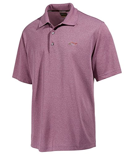 Greg Norman for Tasso Elba Men's 5 Iron Performance Golf Polo Plum,Small