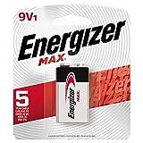 Energizer 522BP Max Alkaline Battery, 9V, 1 Pack