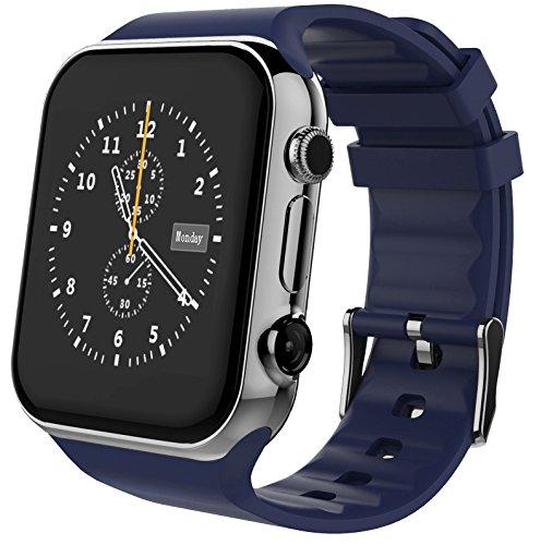 Scinex® SW20 16GB Bluetooth Smart Watch GSM Phone - US Warranty (Silver/Blue)
