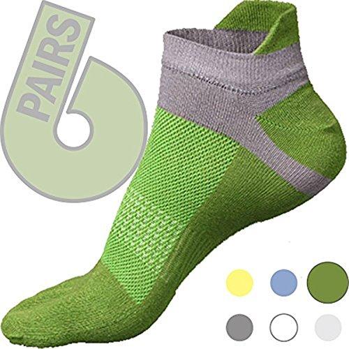 Toe socks green 6 pack - five finger