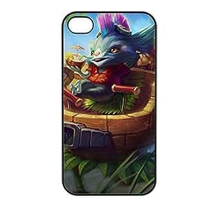 Rumble-002 League of Legends LoL case cover for Apple iPhone 4 / 4S - Plastic Black