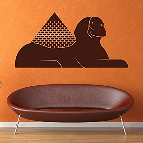 Egyptian Pyramid & Sphinx Rest of the World Wall Stickers Home Decor Art Decals available in 5 Sizes and 25 colors Large Strawberry Red - Fragola Piramide