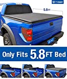 Tyger Auto T1 Roll Up Truck Bed Tonneau Cover TG-BC1C9006 Works with 2014-2019 Chevy Silverado/GMC Sierra 1500 | Fleetside 5.8 Bed | for Models Without Utility Track System