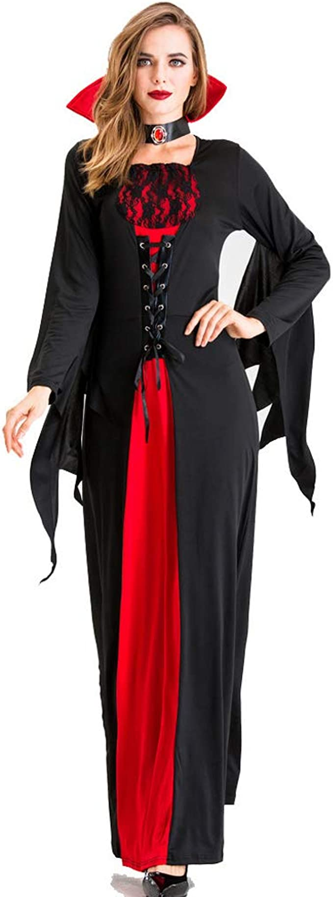 LISM Disfraz de Halloween para Mujer Vampiresa Vestir Mal Bruja ...