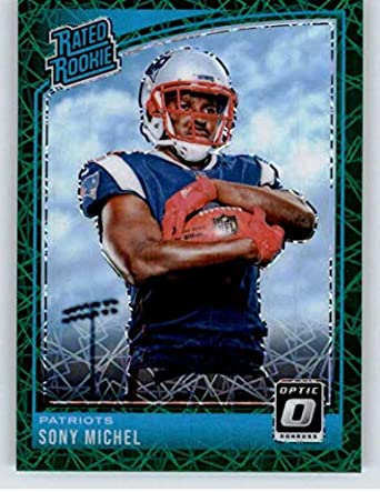 cb01a277d30 2018 Donruss Optic Green Velocity  160 Sony Michel Rated RC Rookie New  England Patriots NFL