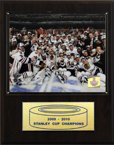 C&I Collectables NHL Blackhawks 2009-10 Stanley Cup Celebration Champions Plaque (2009 Photo Card)