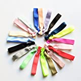 MUYAOO Multicolors Elastic Hair Ties Solid Rubber Bands 100 PCS