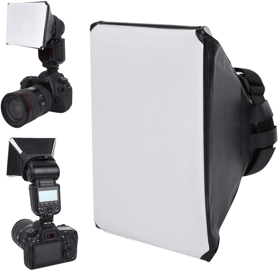 fosa Portable Diffuser softbox 40cm Universal Flash Flashlight Softbox Diffuser for External Speedlite Digital Camera