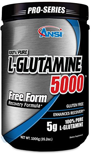 ANSI - L-Glutamine 5000 - Free Form Recovery Formula - Enhanced Recovery (1000 Gram)