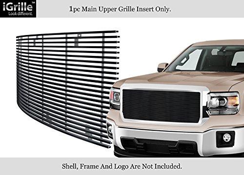 - APS For 2014-2015 GMC Sierra 1500 Black Stainless Steel Billet Grille Inserts #G85973J