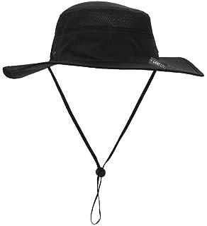 69e442ef Home Prefer Men's Sun Hat UPF 50+ Wide Brim Bucket Hat Windproof ...