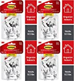 Command Wire Hooks, White, Indoor Use - 4 Pack