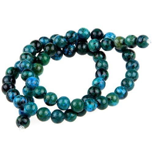 Beads - TOOGOO(R)Gemstone Chrysocolla stone round 6mm beads
