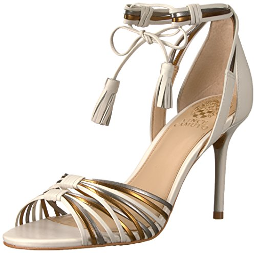 Vince Camuto Women's STELLIMA Heeled Sandal Gold/Ivory/Silver 8 M - Gold Multi Heels