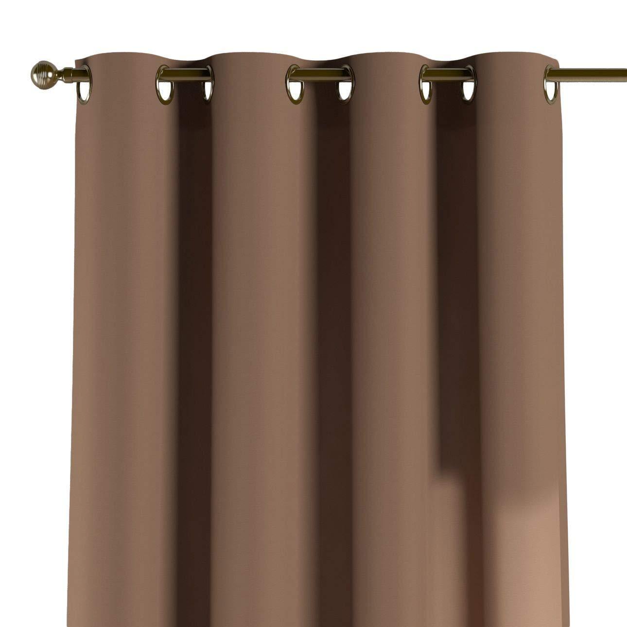 Dekoria Ösenschal Dekoschal Blickdicht 1 Stck. 130 × 260 cm schockoladenbraun Maßanfertigung möglich