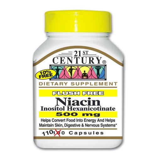 21st Century Niacine Flush Capsules 500 Mg gratuits, 110-Count