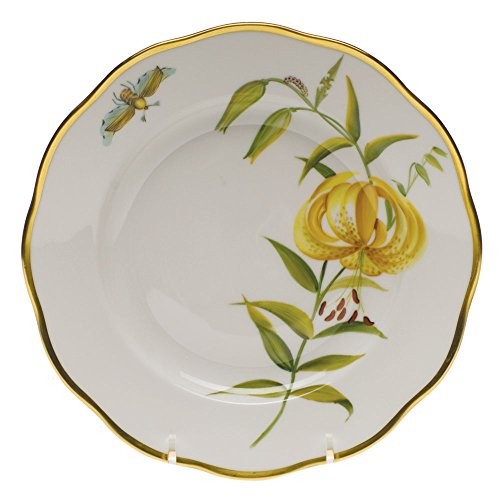 Herend American Wildflower Salad Plate Meadow Lily ()