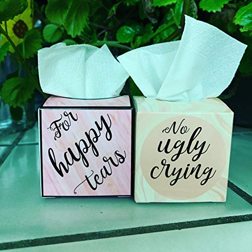 For Happy Tears Mini Tissue Boxes Set of 20 by Wedding Tokens ()