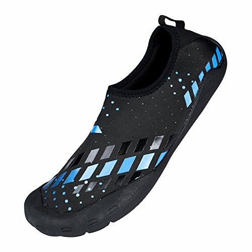 Youweb Water Shoes schnell trocken Aqua Wasser Schuhe Beach Walking Swming Yoga Übung Blau01
