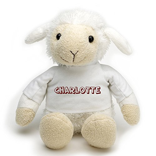 Personalized Gift Plush Sheep - Height seated 20 cm 7.50 inch (Sheep Seated)