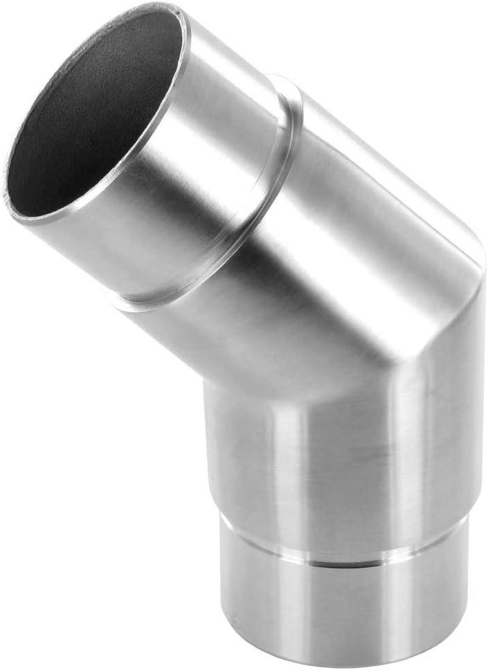en inox bross/é Raccord 135/° angle vif pour tube /Ø42,4 x 2mm