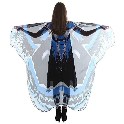 VEFSU Women Party Lady Long Butterfly Wing Cape Soft Scarf Scarves Wrap Shawl Nymph Costume -