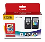 Canon Fine Cartridge PG-240XL/CL-241XL with Photo Paper Glossy (50 Sheets, 4''x6'')