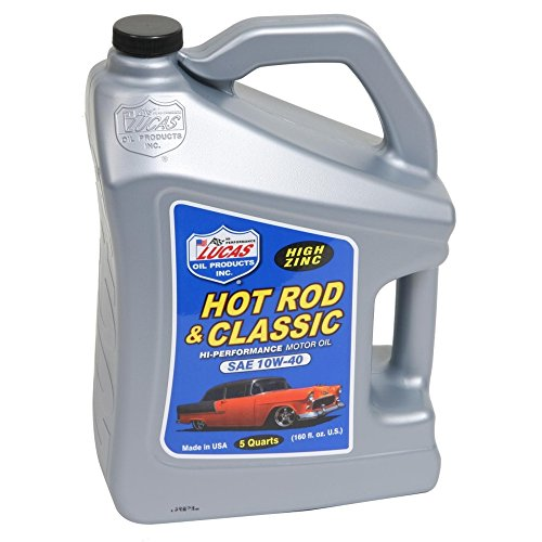 Lucas Oil LUC10683 10W-40 Petroleum Oil - 5 Quart Jug