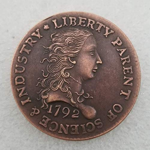 One Cent Us Coins - GreatSSCoin 1792 Antique Liberty One-Cent Coin -Great American Commemorative Coin - US Old Coins- Original Pre Morgan Uncirculated Condition Great Uncirculated Coin