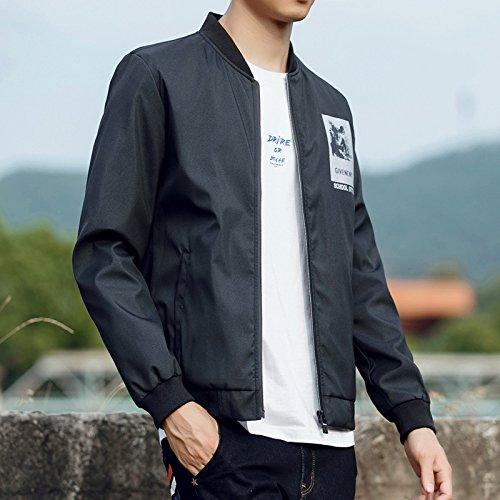 Coreana Stand Uomo Giacche Autunno Uomini Colore Marea 2020 Giacca Xl Nero Giovani Slim Collare Solido nXFZdx1wFf
