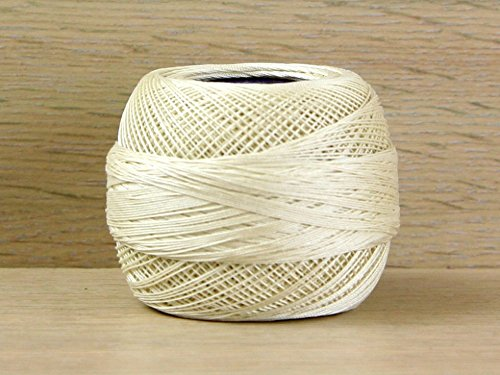 (DMC Cordonnet Cotton Crochet Thread Size 30 Ecru - per 20 gram ball)