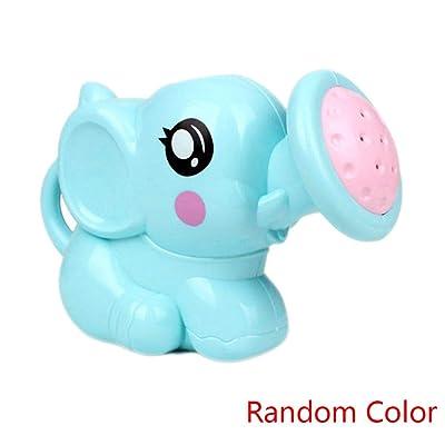 Eardion Random Color Newborn Plastic Elephant Watering Pot Bath Toys Spray Toys Bath Shower Baby Swimming Bathroom Bath Shower Tool Water Spray Toys: Home & Kitchen