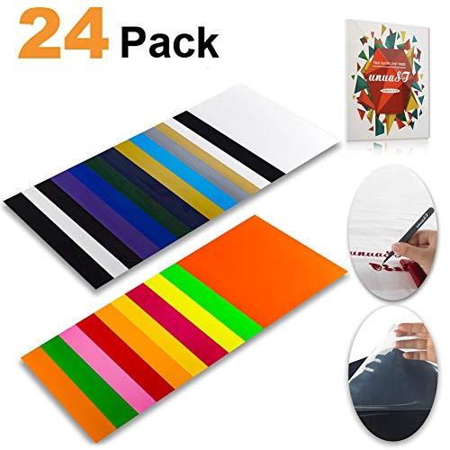Heat Transfer Vinyl HTV Bundle Variety Pack Assortment for T Shirts Fabric 12x10