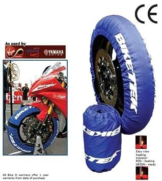 BIKETEK NBI TYRW09 - Calentadores de neumáticos (250 CC y Supermoto 120/70-17 160/60-17): Amazon.es: Coche y moto