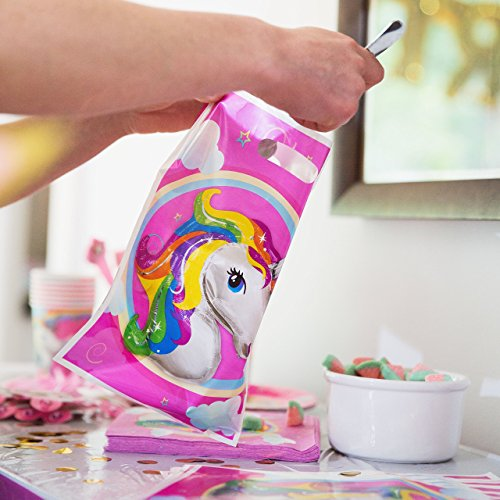 180+ PCS Complete Unicorn Party Supplies & Decorations - Glittery Unicorn Headband | Disposable Tableware Set | 30 Magical Balloons | 24 Pc Unicorn Cupcake Wrappers & Toppers | Party Favors by FETTI FETTI (Image #8)
