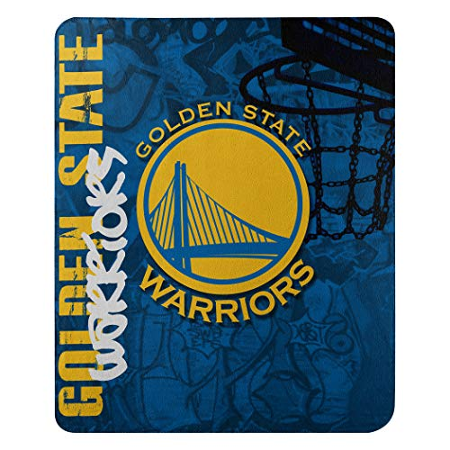 The Northwest Company NBA Golden State Warriors Hard Knocks Printed Fleece Throw, 50-inch by 60-inch, Multicolor
