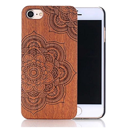 Sunroyal Unique Stylish Luxury Real Handmade Natural Wood Wooden Hard Bamboo with PC (Poly Carbonate) Shockproof Scratch Resistant Case For iPhone 6 /…
