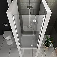Mampara de 6 mm, cristal con sistema Easy Clean cabina de ducha ...