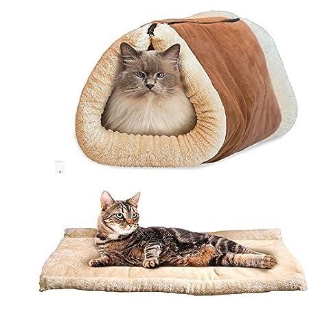 Sun Glower Bonita Cama para Su Mascota 2 en 1 tubo Cat Mat y cama Small