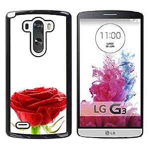 Pureza de una sola Rose - Metal de aluminio y de plástico duro Caja del teléfono - Negro - LG G3