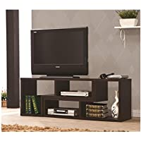 Premium Designer TV Stand/Shelf/Rack Convertible To Bookcase for Modern Contemporary Home Living Room Spaces, Wood Made (Cappuccinno)