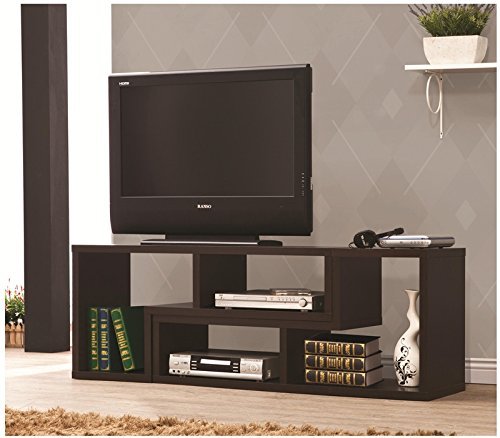Premium Designer TV Stand/Shelf/Rack Convertible To Bookcase for Modern Contemporary Home Living Room Spaces, Wood Made (Cappuccinno) (80's Wicker Furniture)