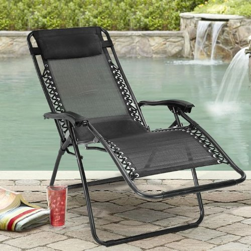 Kawachi Zero Gravity Relax Recliner Folding Chair (Multicolor, 111 Cm X 12  Cm X