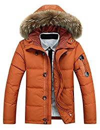Glestore Men's Winter Thicken Casual Outwear Jacket With Fur Hooded #MY0902