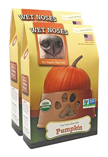 l Dog Treats, Made in USA, 100% USDA Certified Organic, Non-GMO Project Verified (Pumpkin, 2-Pack) (Wet Noses Pumpkin)