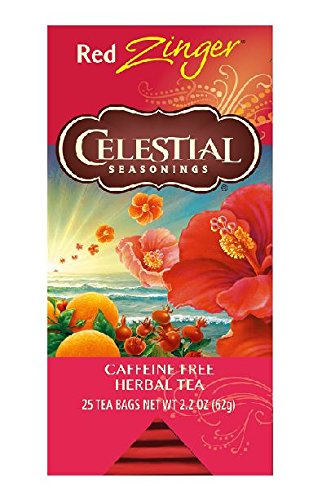Celestial Seasonings Red Zinger Herbal Tea, 2.2 oz, 25 Count (Pack of (2.2 Tees)