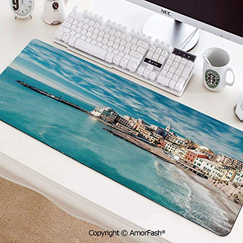 Large Mouse pad with Premium-Textured Cloth,Non-Slip Rubber Base35.5