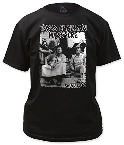 Texas Chainsaw Massacre Salad Days Print Men's Classic Fit Shirt X-Large Black